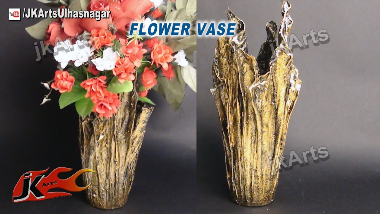 Diy Vase From Waste Cloth How To Make Jk Arts 491 Youtube