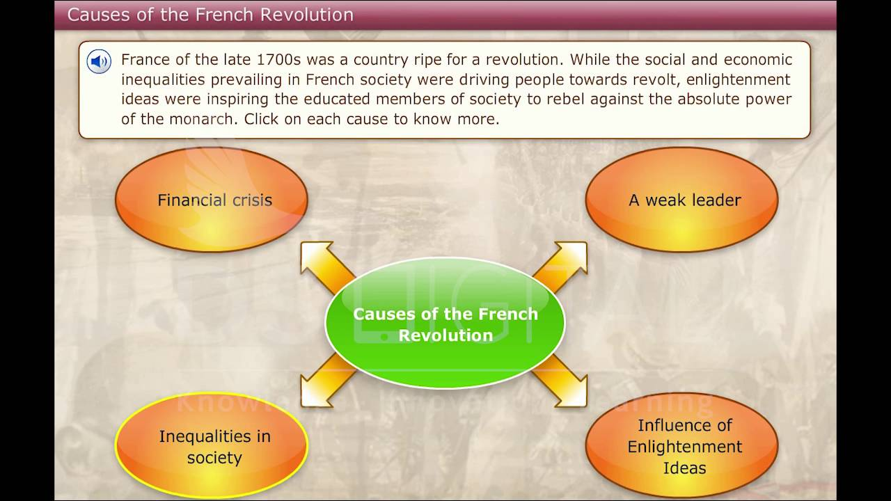 France The causes of the French Revolution In an immediate sense what brought down the ancien régime was its own inability to change or more simply