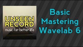 Basic Mastering in Wavelab 6