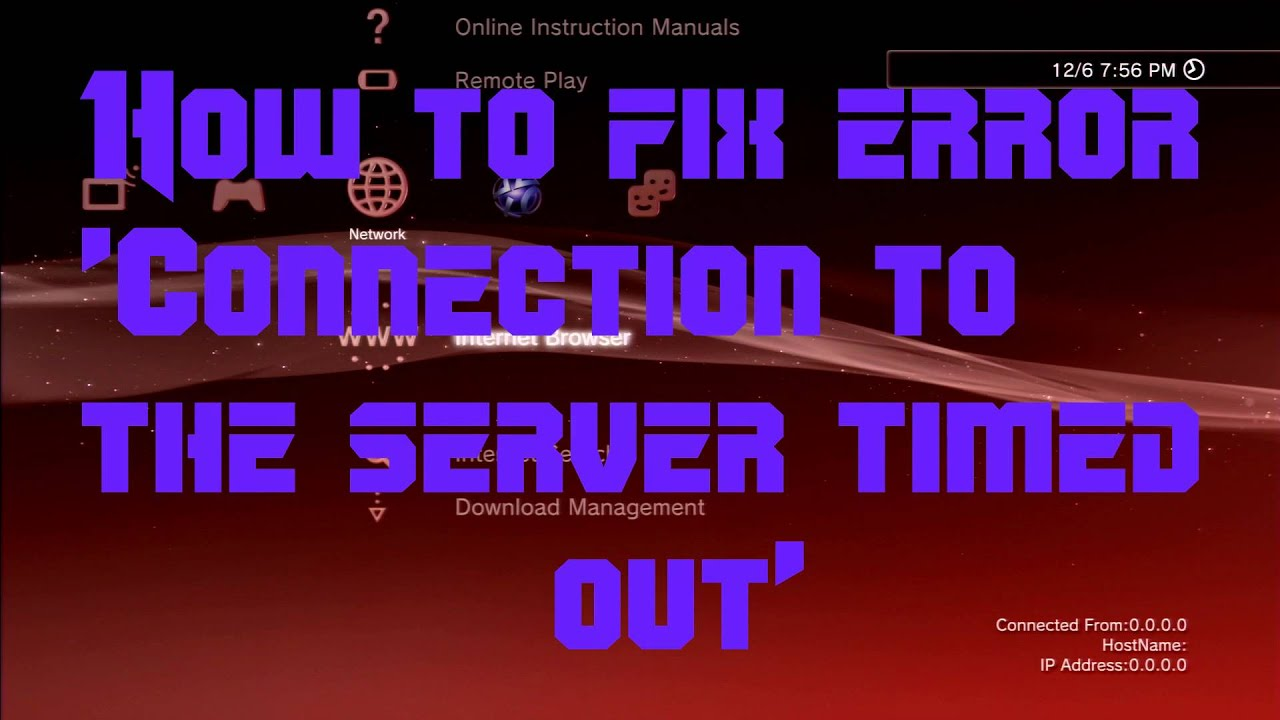 How to fix Error Connection timed out PSN [CFW] - YouTube