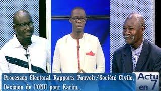 Actu en 7 (24 nov.-18) - Processus Électoral, Rapports Pouvoir/Société Civile...