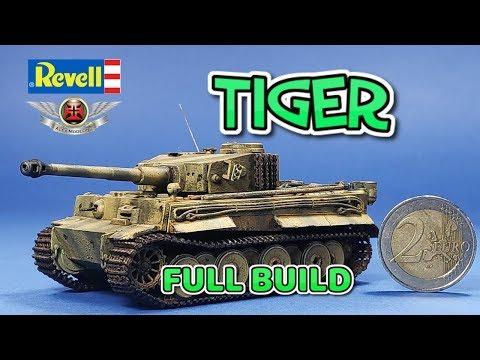 REVELL 1:72 TIGER TANK FULL BUILD VIDEO