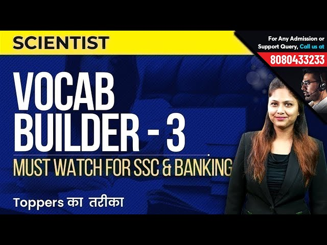 Vocab Builder - 3 | Science & Scientist | Learn English Vocabulary for SSC & Bank Exams