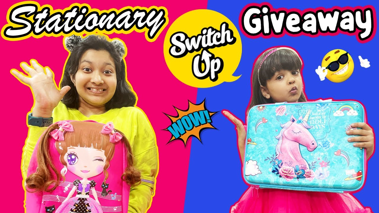 Stationary Switch Up | GIVEAWAY | #Fun #Kids #CuteSisters | Cute Sisters