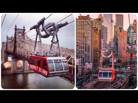 A Ride On The Roosevelt Island Tramway New York City