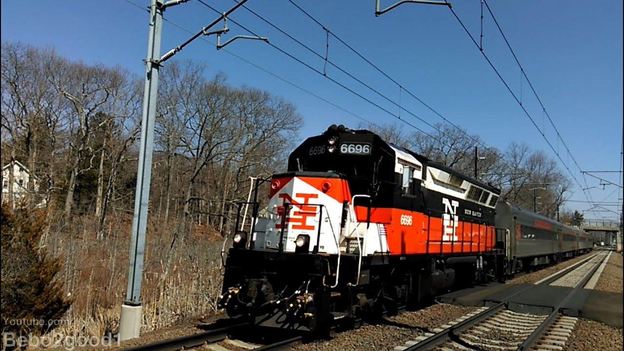 2 shore line east 1 amtrak regional 2 acela trains at madison ct