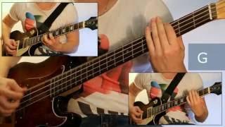 Как играть на бас гитаре Лесник - Король и шут  ( видеоурок Guitar riffs) + табы