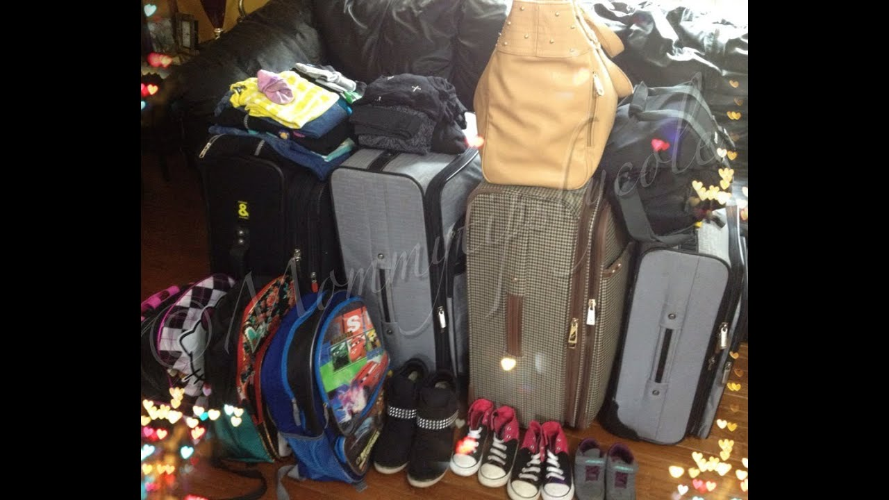 Vacation Packing Tips: How I Pack for my Family of 5 **2 wk vacay ...