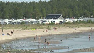 Sommarvädret saboterar för campingsverige - Nyheterna (TV4)