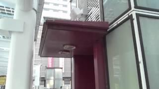 10月初旬から小倉駅小倉城口・黒崎駅で市の条例の注意を案内.