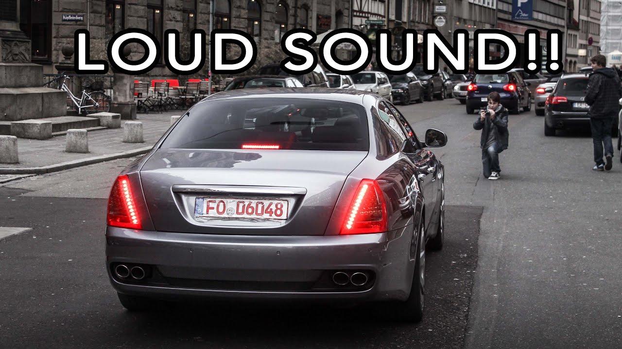 maserati quattroporte s - godly v8 sound! - youtube