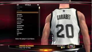 NBA 2k13 Career Mode - Creation of Athletic Point Guard Anto Garabet Ep.1