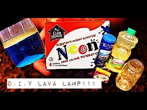 DIY~ LAVA LAMP WITHOUT ALKA  SELTZER!