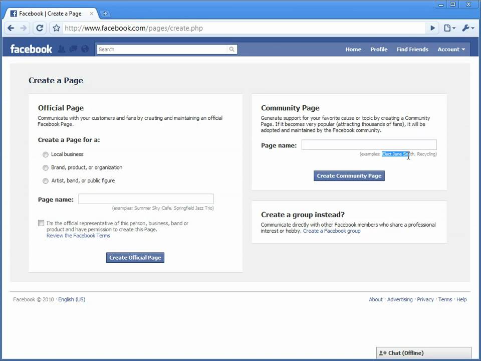 How To Create A Facebook Community Page