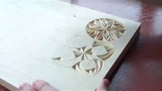 Геометрическая резьба по дереву. Урок 18 (geometric wood carving)