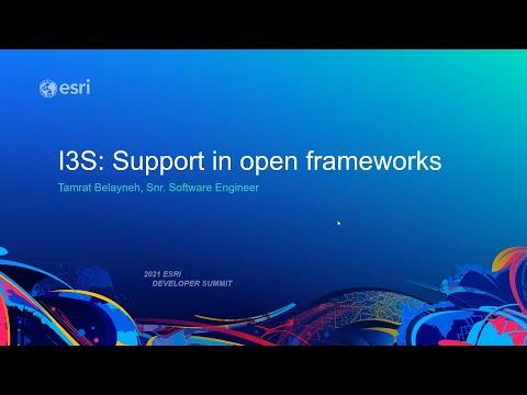 索引3D场景层(I3S)在开放框架的支持