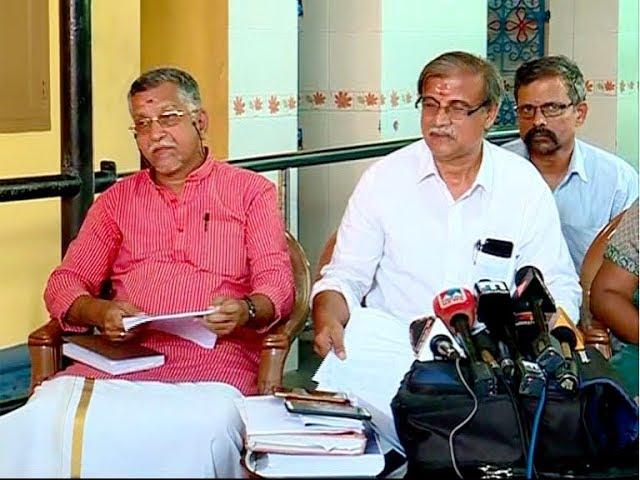 Pandalam palace representatives PRESS MEET 24 OCT 2018
