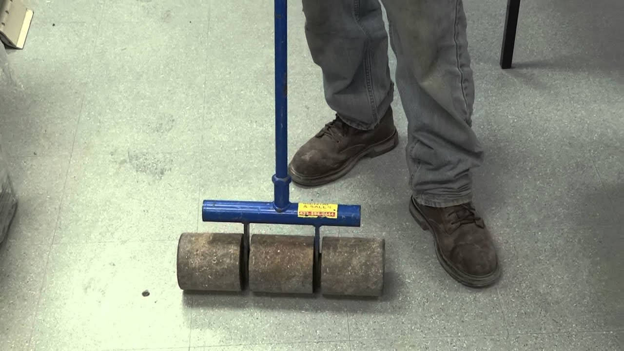 Weighted Roller For Vinyl Flooring
