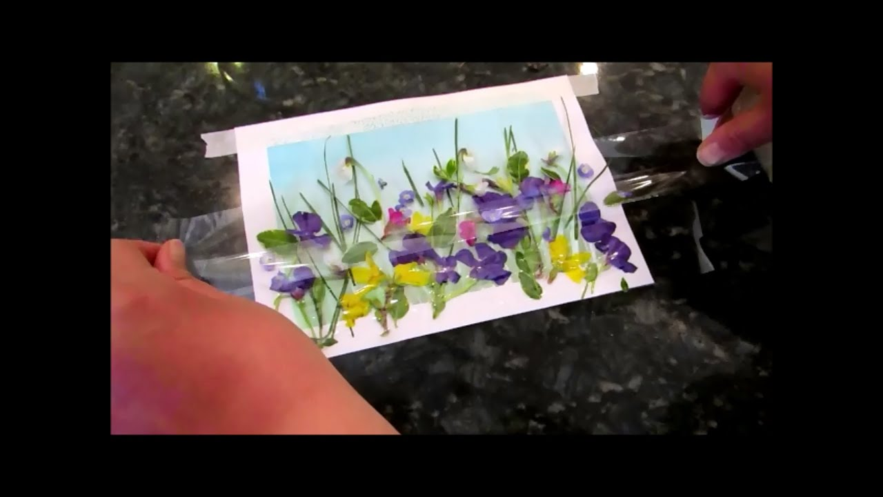 How To Do Flower Preservation Art With Tape