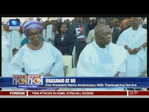 Obasanjo At 80: Fmr President Marks Anniversary With Thanksgiving Service