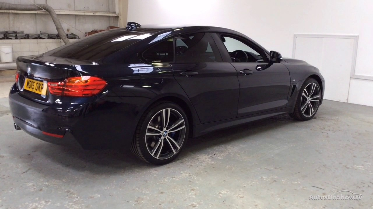 bmw 4 series 430d xdrive m sport gran coupe black 2015 youtube. Black Bedroom Furniture Sets. Home Design Ideas