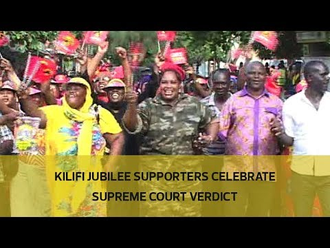 Kilifi Jubilee supporters celebrate Supreme Court verdict