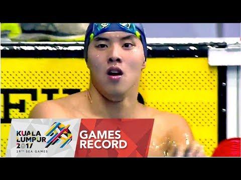 Swimming Men's 400m Freestyle   Games Record   29th SEA Games 2017