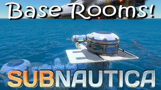 Subnautica - Large Base Rooms! Aquariums! Benches! Bulkheads!