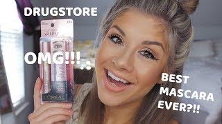 BEST MASCARA EVER?!!! Drugstore Loreal Lash Paradise Mascara Review, Demo, Wear Test