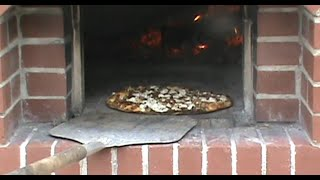 Bacon ,carmelized Onion And Goat Cheese Pizza , From The Wood Fired Oven