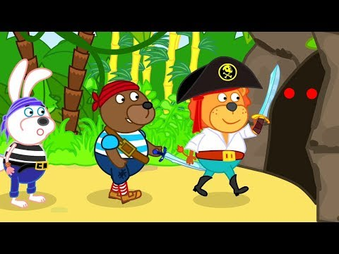 Lion Family Cartoon for Kids Pirate Isle of Treasure