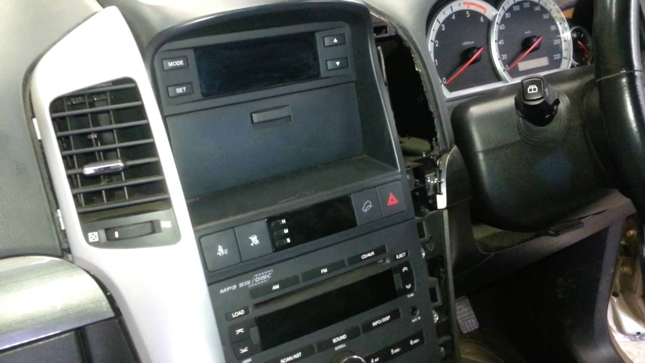 How To Remove The Radio From A Holden Captiva YouTube