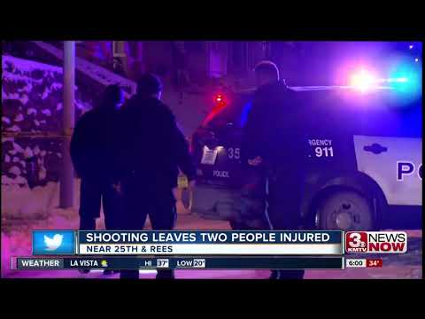 Omaha police looking for gunman who injured two people Monday night
