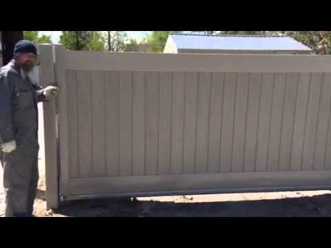 Duragates Slide Gate From Exterior Side Youtube