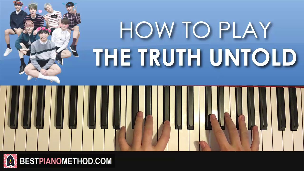 How To Play Bts The Truth Untold Piano Tutorial Lesson Youtube Pianika Yamaha Asli Pianica Original Jepang