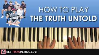 HOW TO PLAY - BTS - The Truth Untold (Piano Tutorial Lesson)