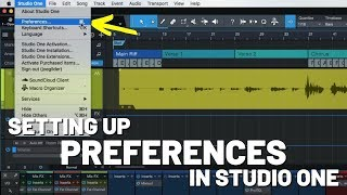 Setting Up Preferences in #StudioOne