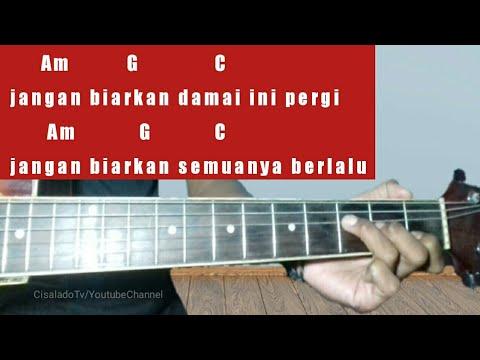 Kunci Gitar Mudah Damai Bersamamu Chrisye By Cisalado Tv Tutorial Gitar Untuk Pemula Youtube