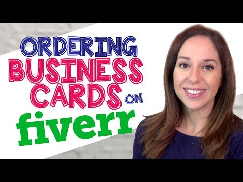 Ordering Business Card Designs on Fiverr