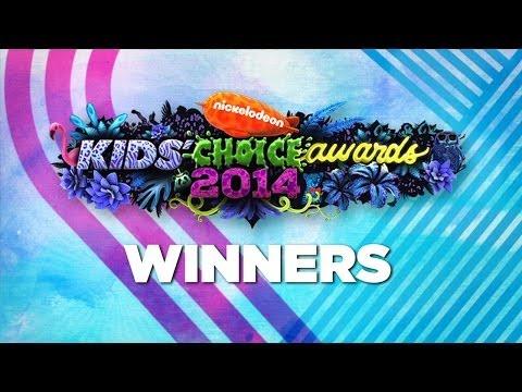 Nickelodeon Kids Choice Awards 2014 Winners!