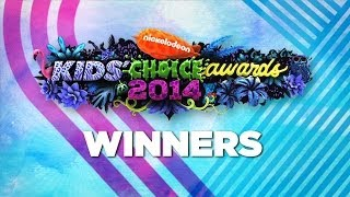 Nickelodeon Kids Choice Awards 2014 Winners!