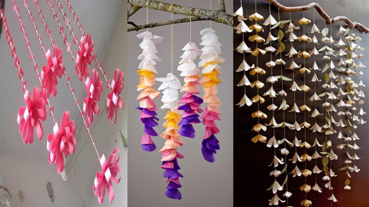 6 Diy Room Decor Wall Hanging Ideas With Paper Paper Craft Wall