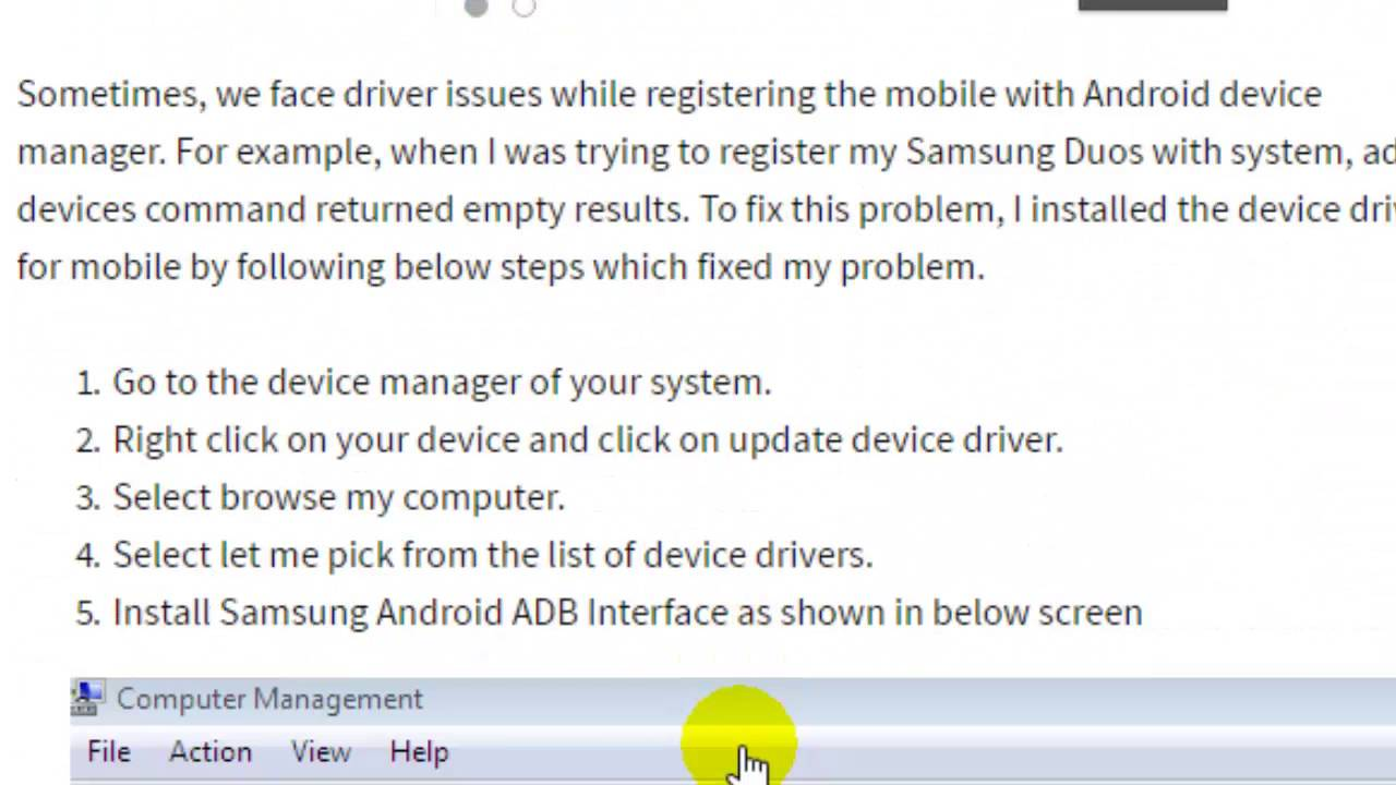 adb device not listing the Android phone