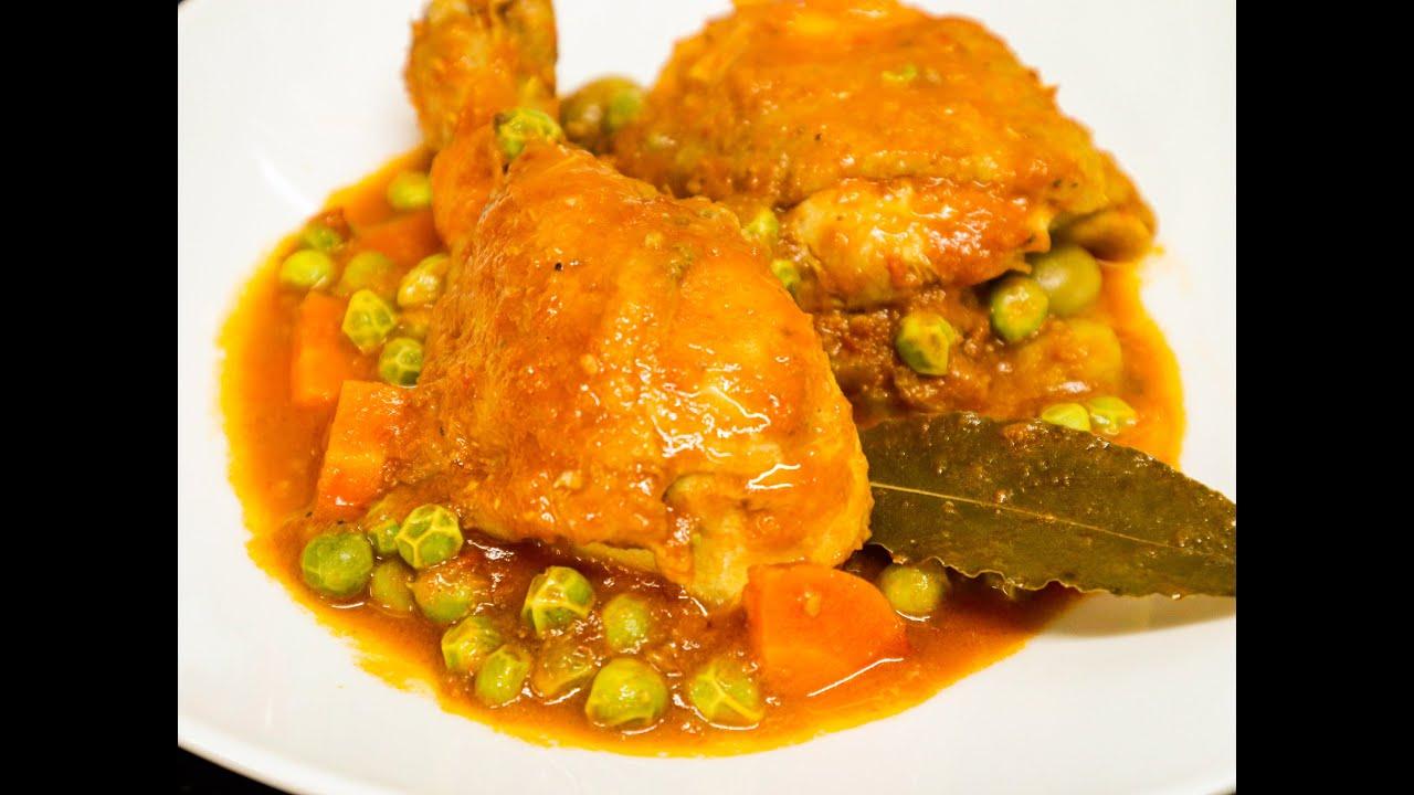 Estofado de pollo (Fácil y delicioso)