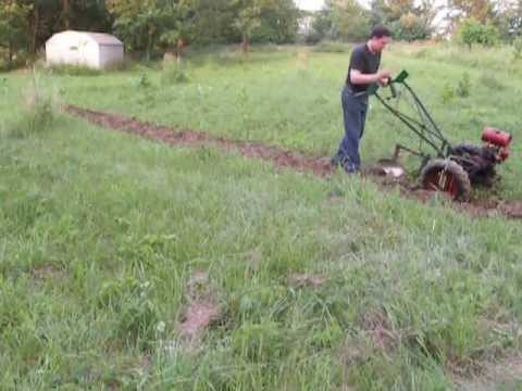 Two Wheel Tractor with garden plow YouTube