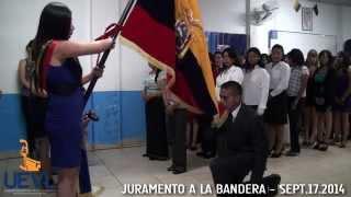 VIEJO LUCHADOR JURAMENTO A LA BANDERA SEDE QUITO SEPT 2014