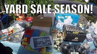 YARD SALE Hunting LIVE! Video Games / Primitives / Antiques