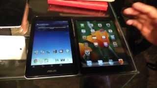ASUS MeMO Pad HD 7 budget tablet vs. Apple iPad mini - comparison at Computex 2013