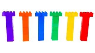 LEGO - развивающее видео для детей - учим цвета с KuSaNiKi