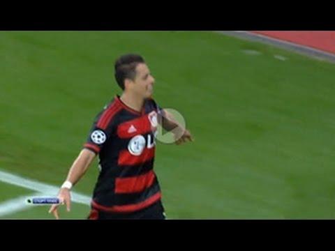 GOL Javier Hernandez Bayer Leverkusen vs BATE Borisov 3-1 UEFA Champions League 2015